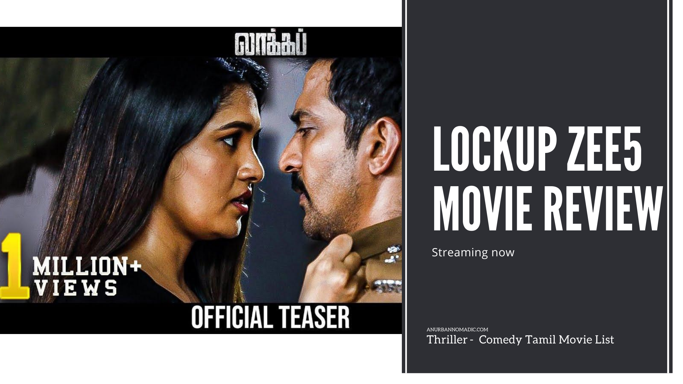 Lockup ZEE5 Tamil Comedy Movie List Streaming now Review