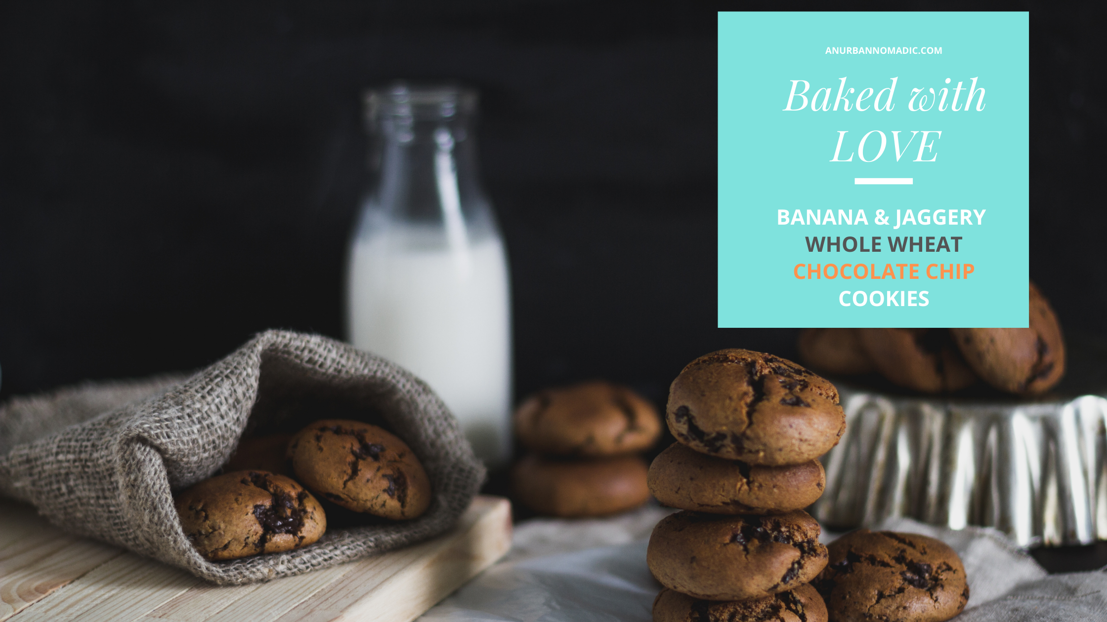 Banana and Jaggery Chocolate Chip Cookies