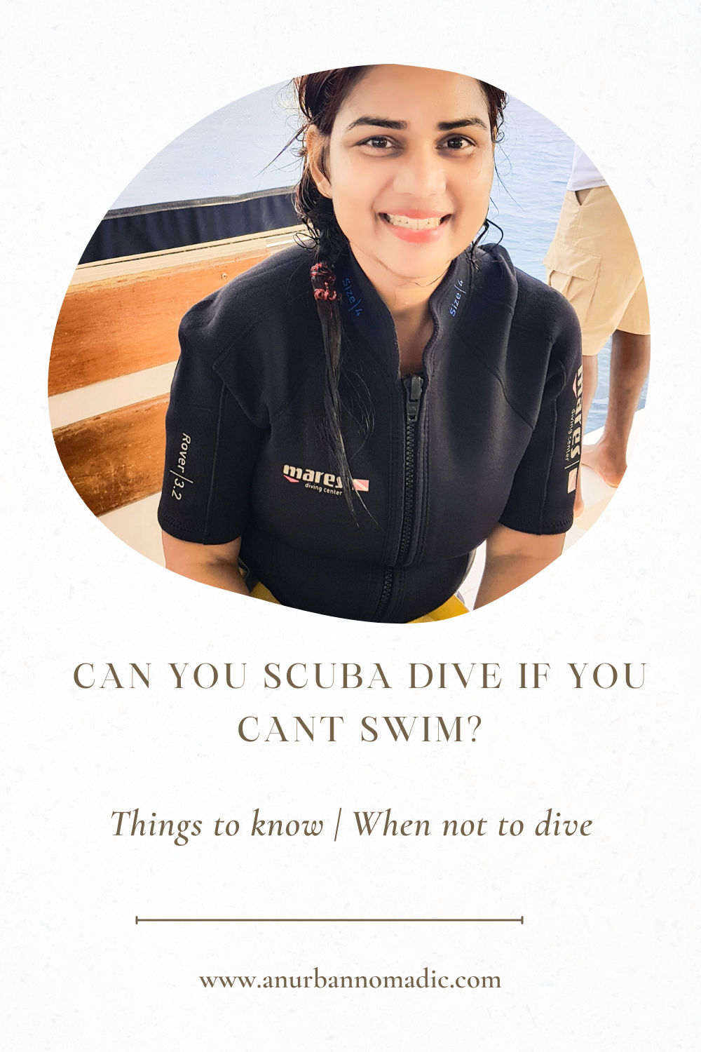 Can I learn to scuba dive if I can't swim?