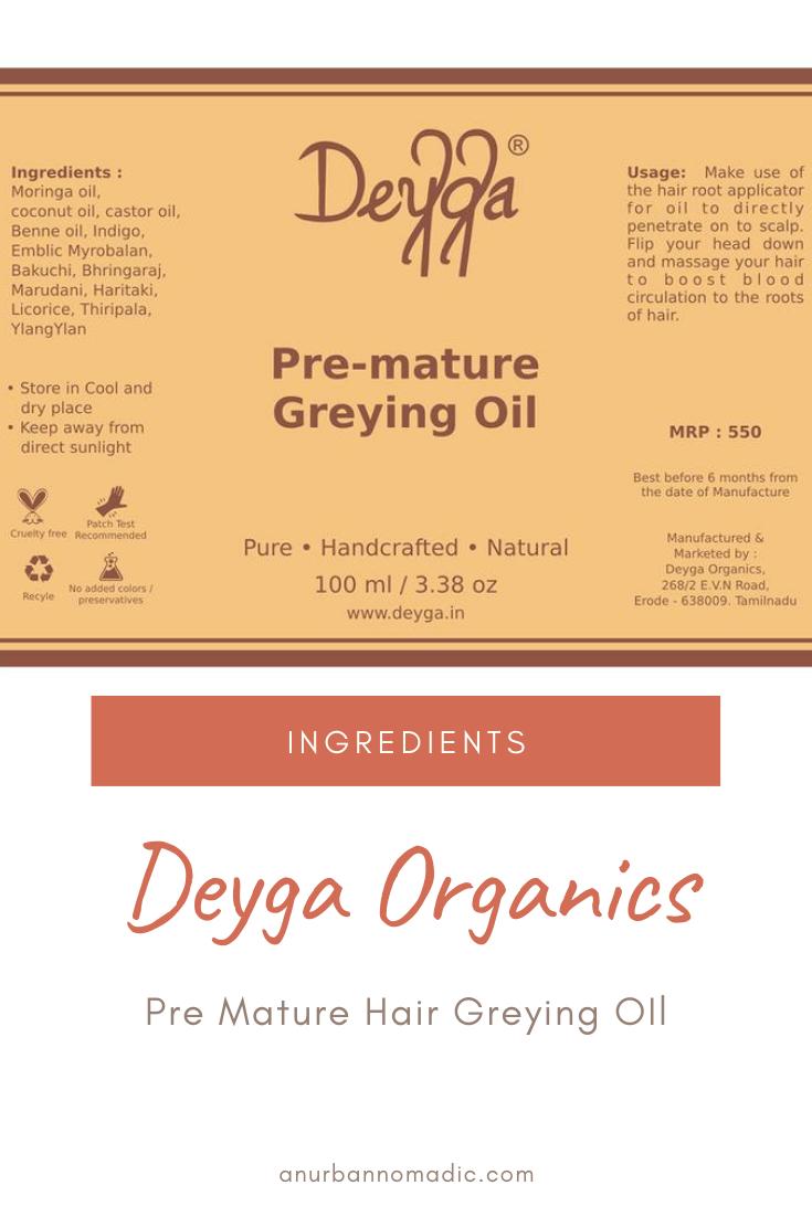 Deyga Pre mature Hair Oil Ingredients